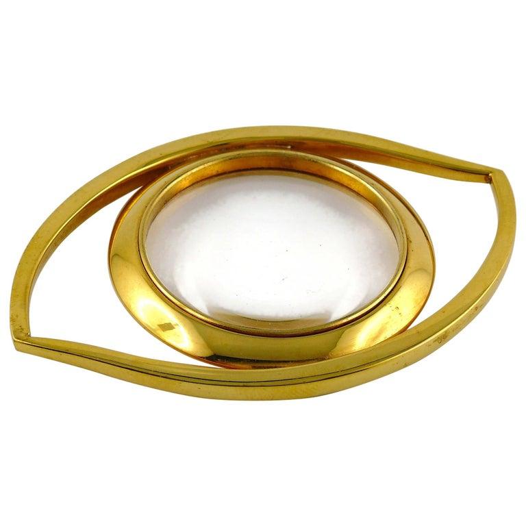 Hermes Vintage Cleopatra Eye Desk Magnifying Glass Paperweight For Sale