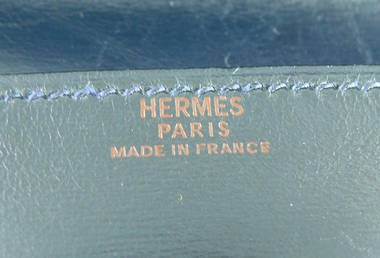 Hermes Vintage Dark Navy Blue Pochette Fanny Pack For Sale 13