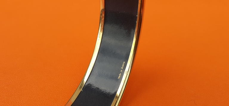 Hermès Vintage Enamel Bracelet Wedgwood Pink Gold Hdw Size GM 70 RARE  6