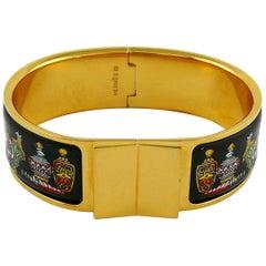 Hermes Vintage Enamel Flacons Loquet Bracelet