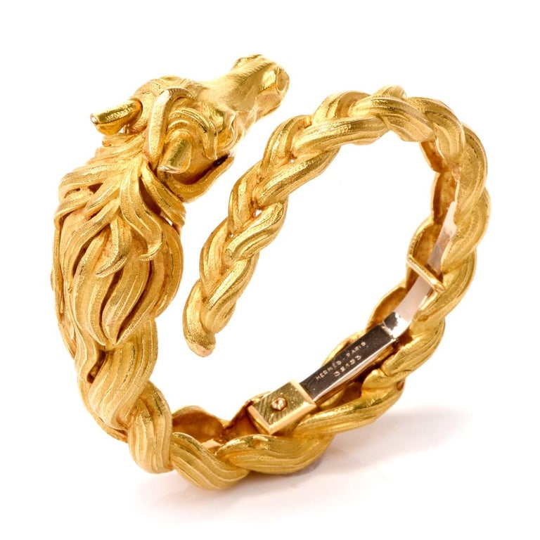 926c2b484 This authentic Hermes bracelet with horse head motif circa 1960's is of  French provenance, rendered