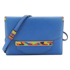 Hermes Vintage Faco Shoulder Bag Courchevel with Lizard Small