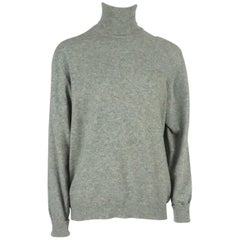 Hermes Vintage Gray Cashmere Turtleneck Sweater - 44 - Circa 1960's / 1970's