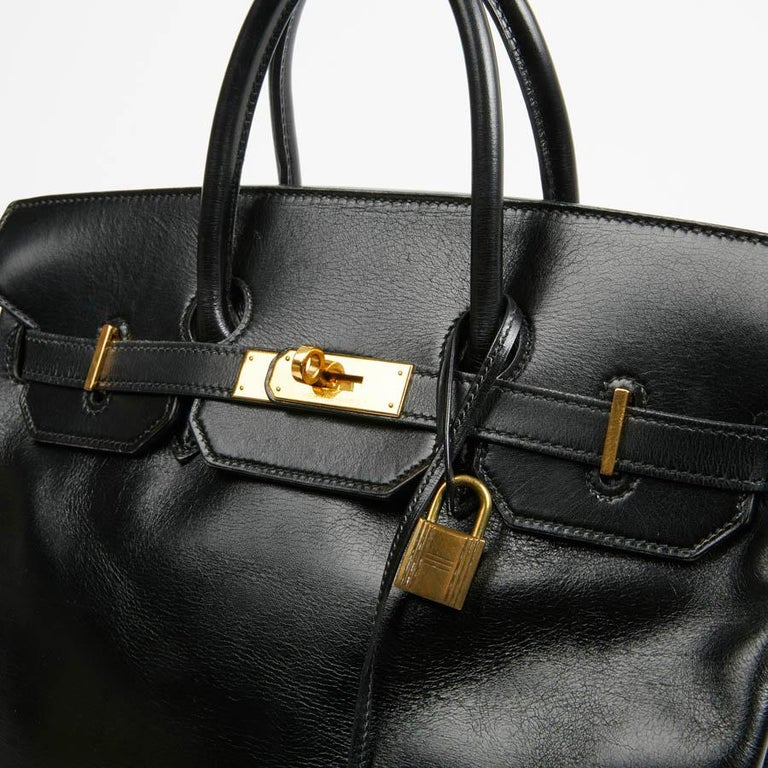 HERMES Vintage HAC 32 Leather Box Bag 5