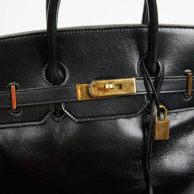 HERMES Vintage HAC 32 Leather Box Bag 6
