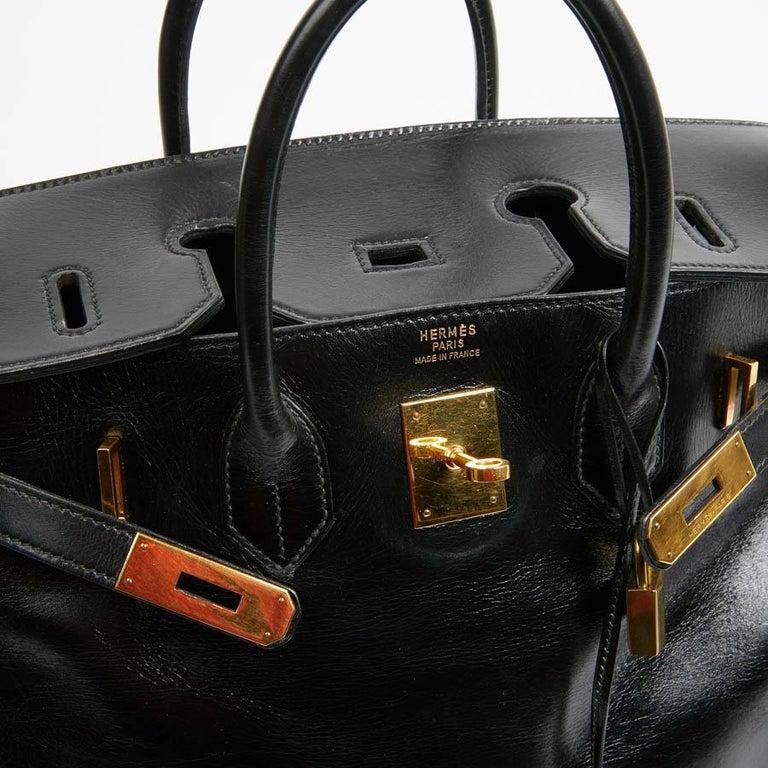 HERMES Vintage HAC 32 Leather Box Bag 7