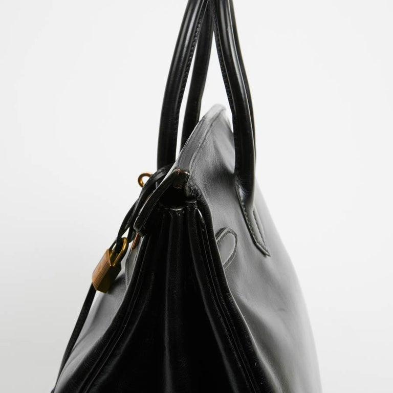 HERMES Vintage HAC 32 Leather Box Bag 9
