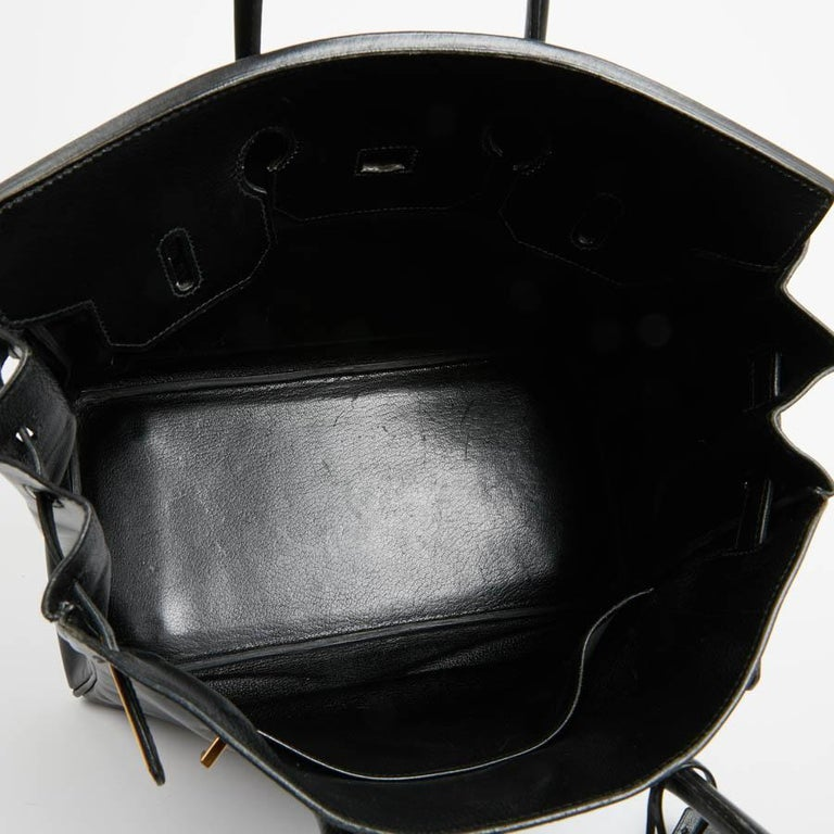 HERMES Vintage HAC 32 Leather Box Bag 11