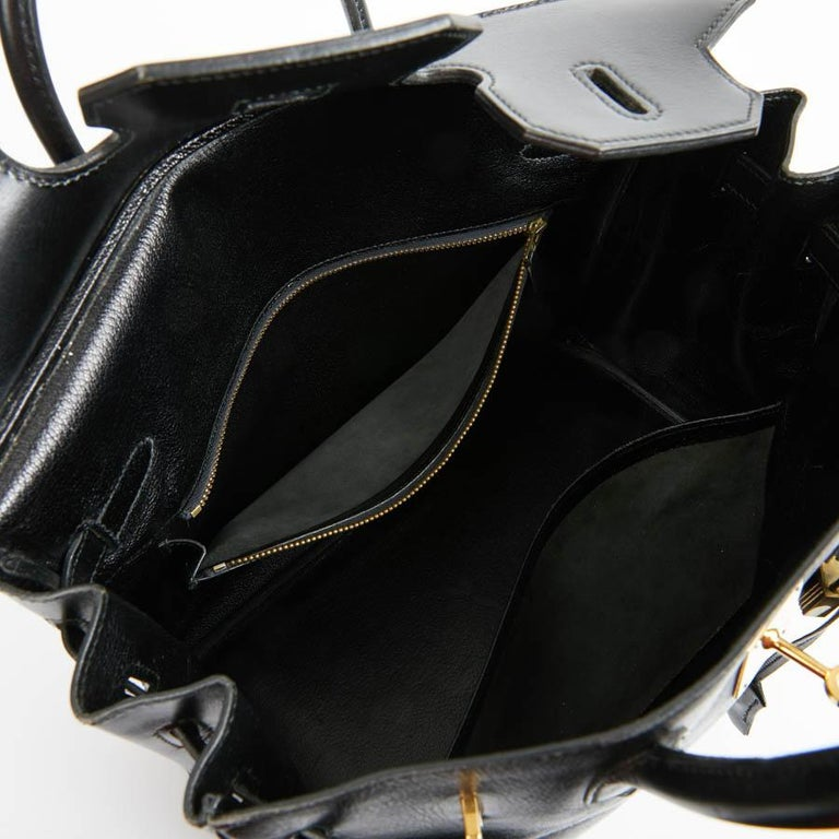 HERMES Vintage HAC 32 Leather Box Bag 12