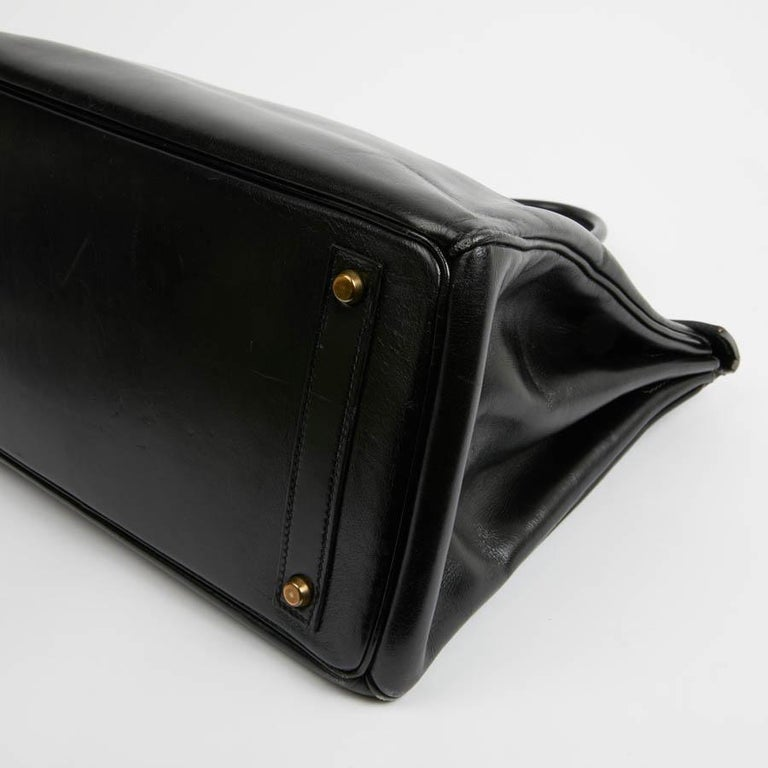 Women's HERMES Vintage HAC 32 Leather Box Bag