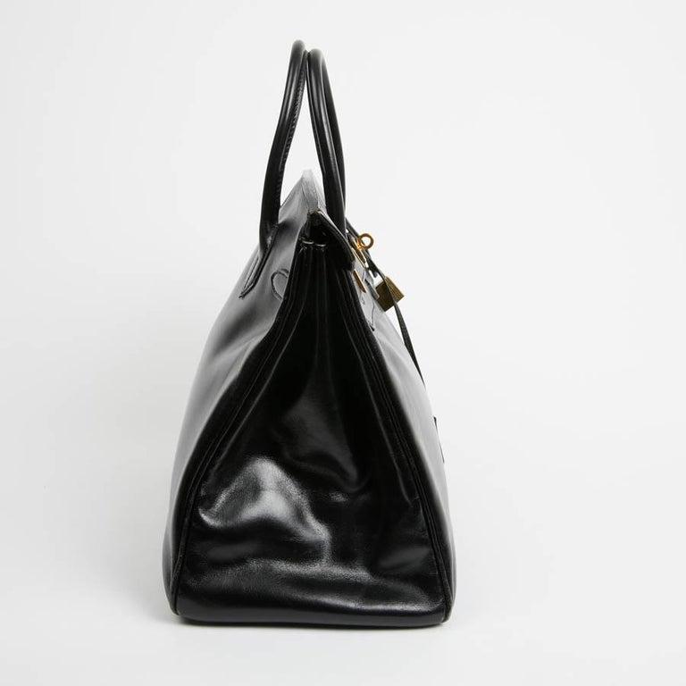 HERMES Vintage HAC 32 Leather Box Bag 1