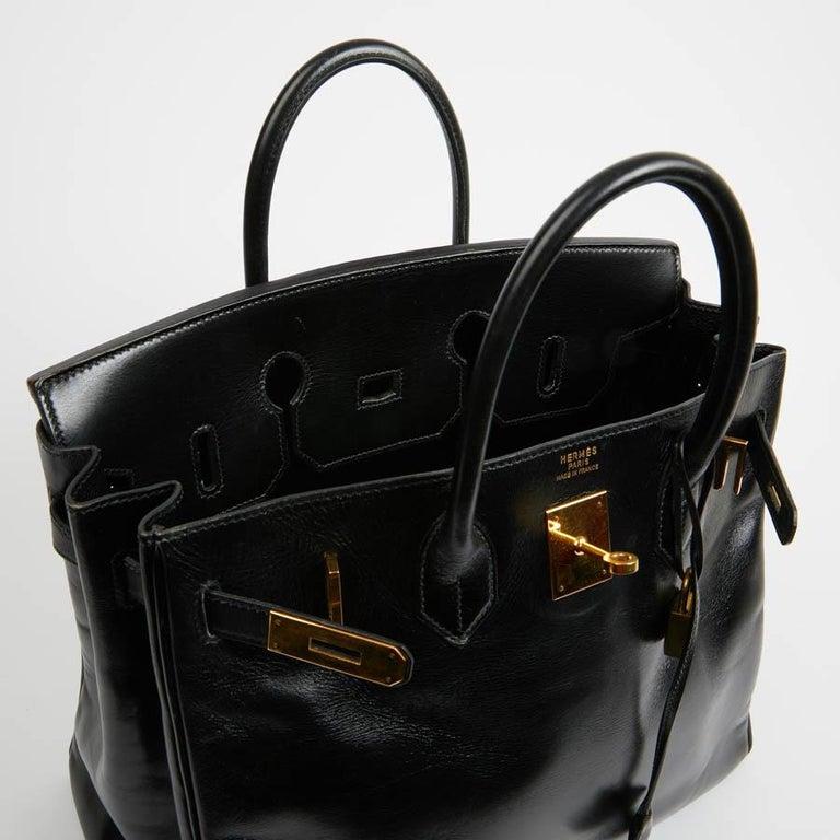 HERMES Vintage HAC 32 Leather Box Bag 2