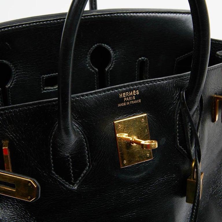 HERMES Vintage HAC 32 Leather Box Bag 3