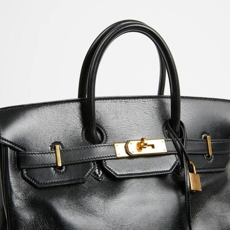 HERMES Vintage HAC 32 Leather Box Bag 4