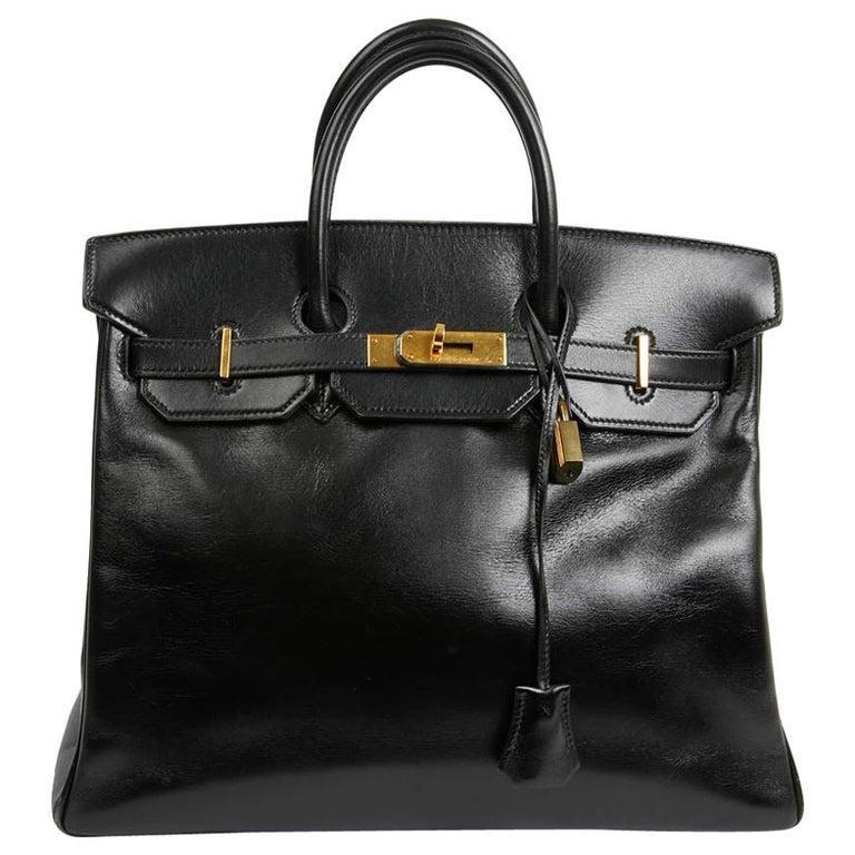 HERMES Vintage HAC 32 Leather Box Bag