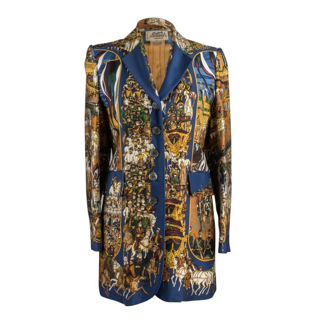 Hermes Vintage Jacket Grand Cortege A Moscou Silk Scarf Print 38 / 6