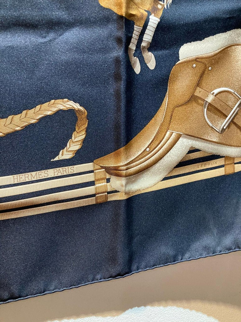 Hermes Vintage Jumping Silk Scarf c1970s For Sale 1