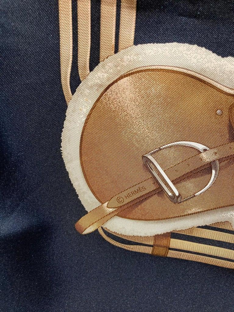 Hermes Vintage Jumping Silk Scarf c1970s For Sale 2