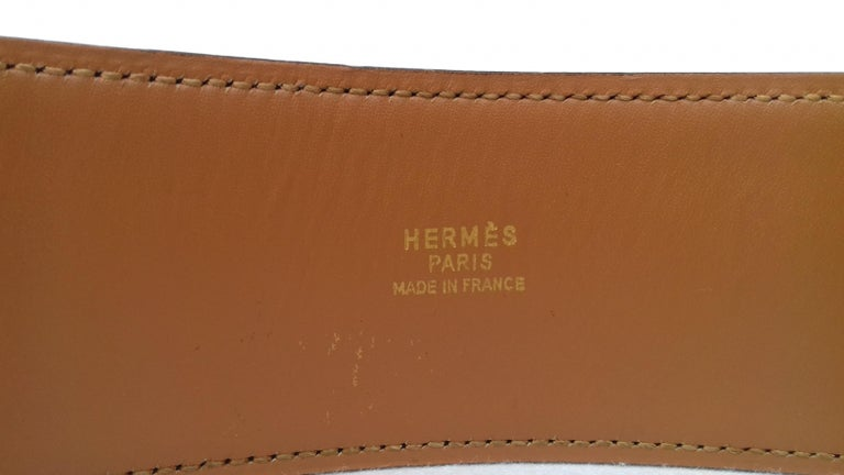 Hermès Vintage Leather Belt Black Medor Removable Ornament Ghw S.75 For Sale 2