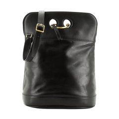 Hermes  Vintage Looping Closure Saddle Bag Leather Medium