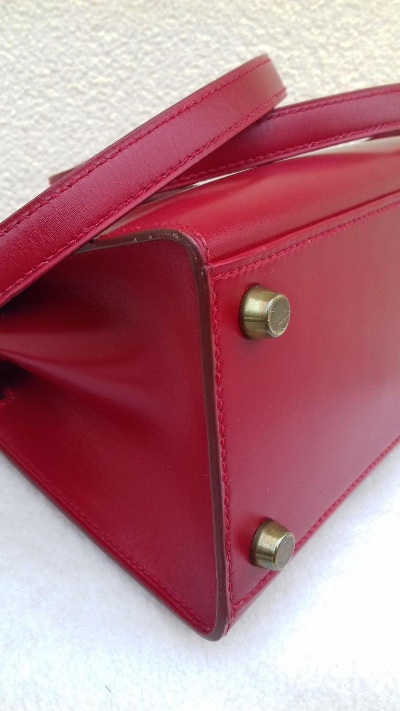 Hermès Vintage Mini Kelly Sellier Bag Red Box Leather Ghw 20 cm For Sale 6