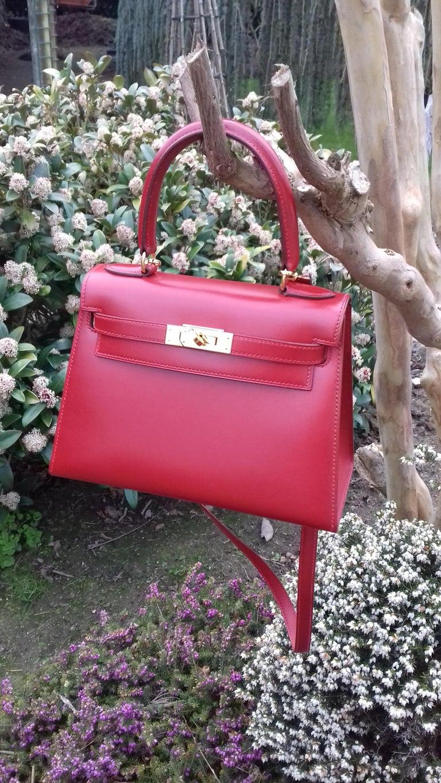 Hermès Vintage Mini Kelly Sellier Bag Red Box Leather Ghw 20 cm For Sale 14