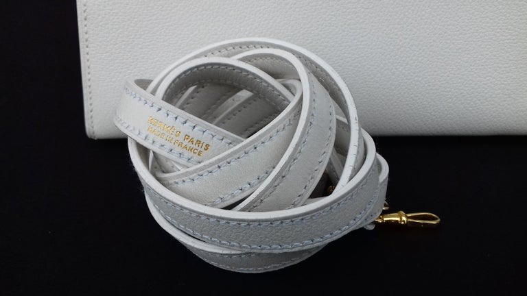 Women's Hermès Vintage Mini Kelly Sellier White Leather Ghw 3 ways 20 cm For Sale