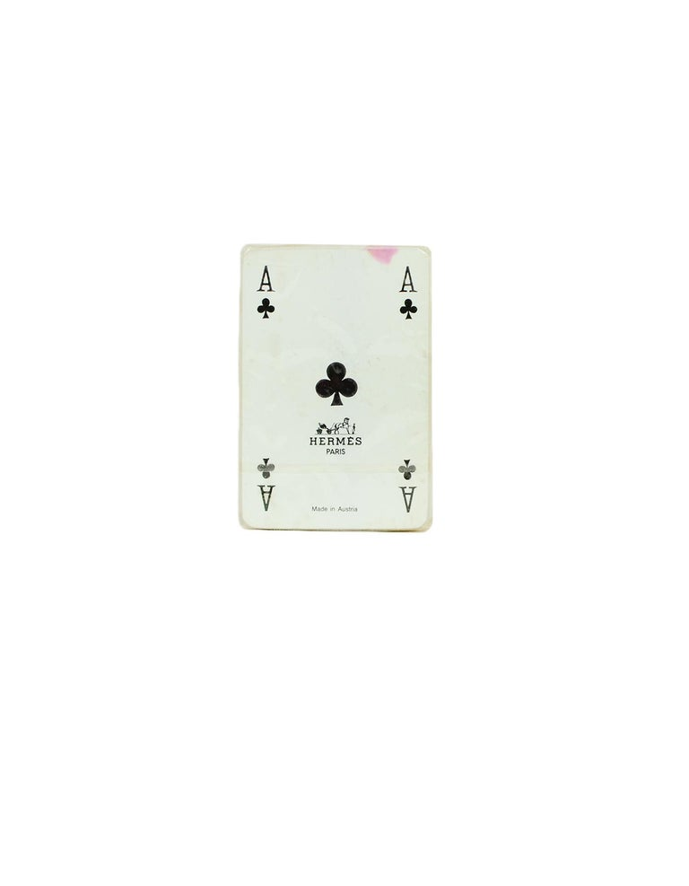 Hermes Vintage Mini Playing Cards In Excellent Condition For Sale In New York, NY