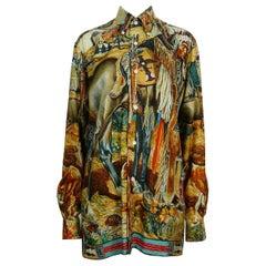 Hermes Vintage Native American Indian Shirt by Kermit Oliver