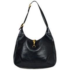 Hermes Vintage Navy Box Leather 31cm Trim Shoulder Bag