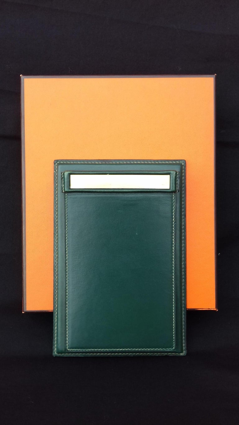 Beautiful Authentic Hermès Notepad Cover / Holder