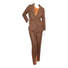 Hermes Vintage Ostrich Three Piece Suit Circa 1980's