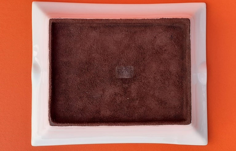 Hermès Vintage Porcelain Ashtray Change Tray CONIVGI ET FIL DVL RARE For Sale 5