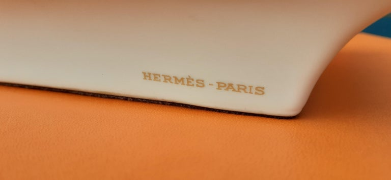 Hermès Vintage Porcelain Ashtray Change Tray CONIVGI ET FIL DVL RARE For Sale 6