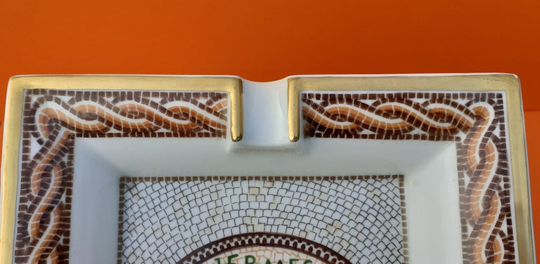 Hermès Vintage Porcelain Ashtray Change Tray CONIVGI ET FIL DVL RARE For Sale 1
