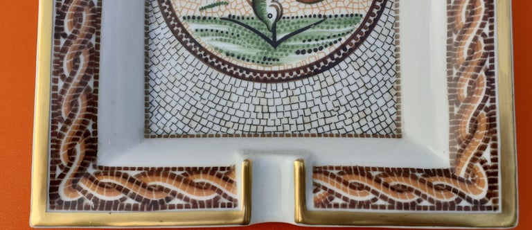Hermès Vintage Porcelain Ashtray Change Tray CONIVGI ET FIL DVL RARE For Sale 4