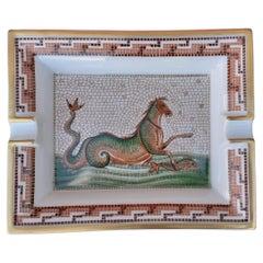 Hermès Vintage Porcelain Ashtray Change Tray The Seahorse Mythology in Porcelain