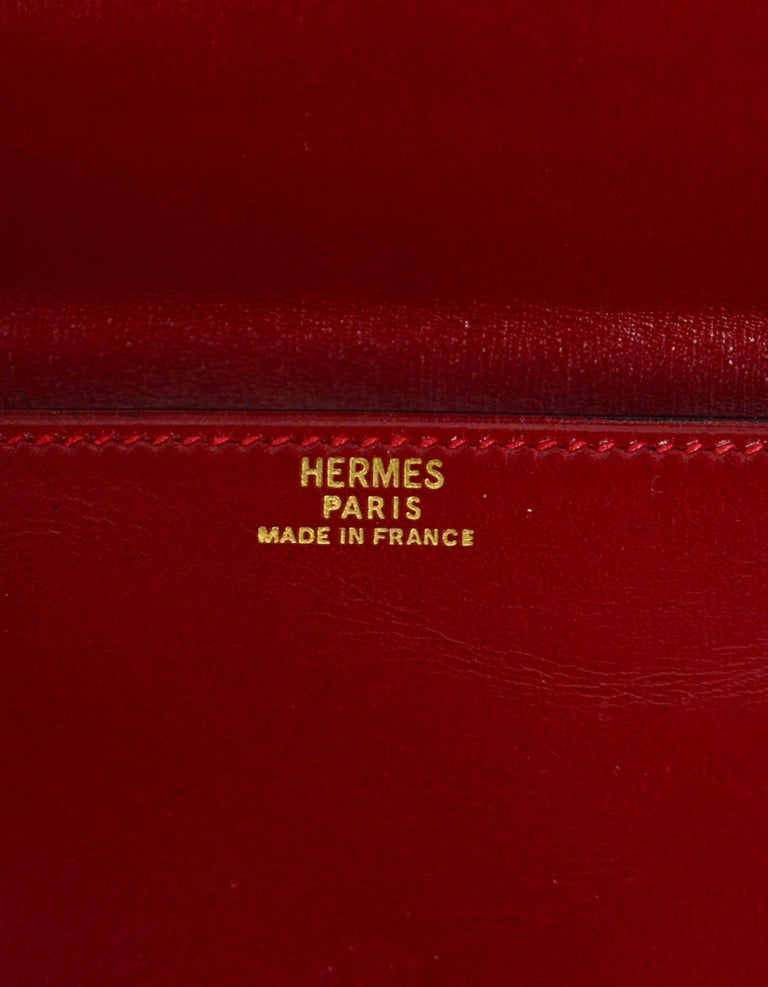 Hermes Vintage Red Box Leather Multisnap Wallet - AS IS For Sale 2