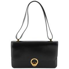 Hermes Vintage Sac Ring Shoulder Bag Box Calf