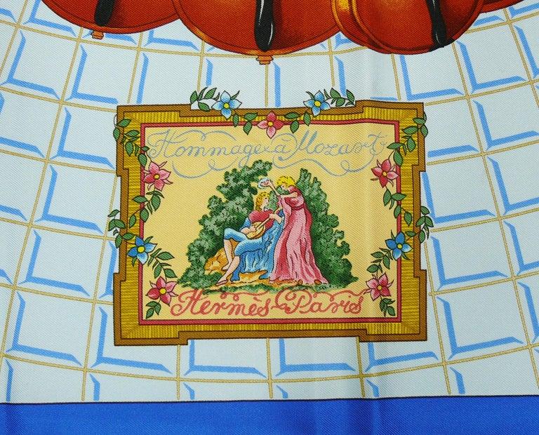 Hermes Vintage Silk Carre Scarf Hommage à Mozart by Julie Abadie 2