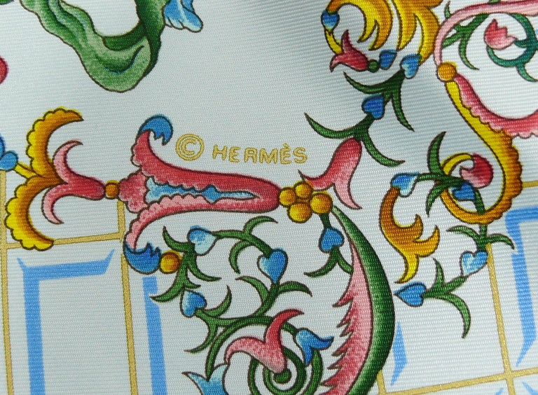 Hermes Vintage Silk Carre Scarf Hommage à Mozart by Julie Abadie 3
