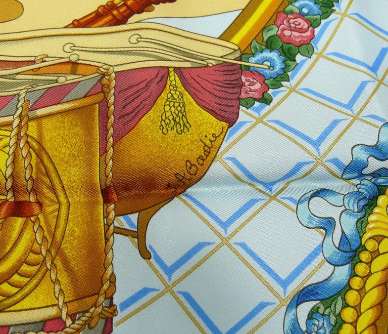 Hermes Vintage Silk Carre Scarf Hommage à Mozart by Julie Abadie 4