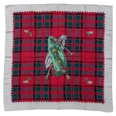 Hermès Vintage Silk Scarf BAG-PIPE Cornemuse United Kingdom Grygkar 1951 RARE