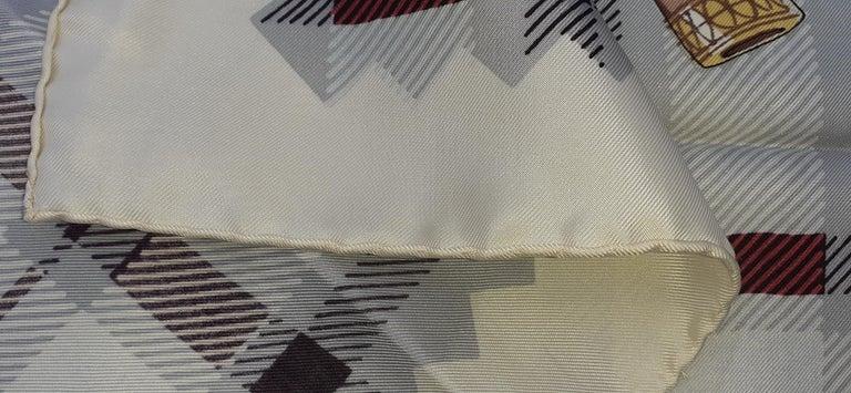 Hermès Vintage Silk Scarf Bagpipe Cornemuse United Kingdom Grygkar 1951 RARE For Sale 5