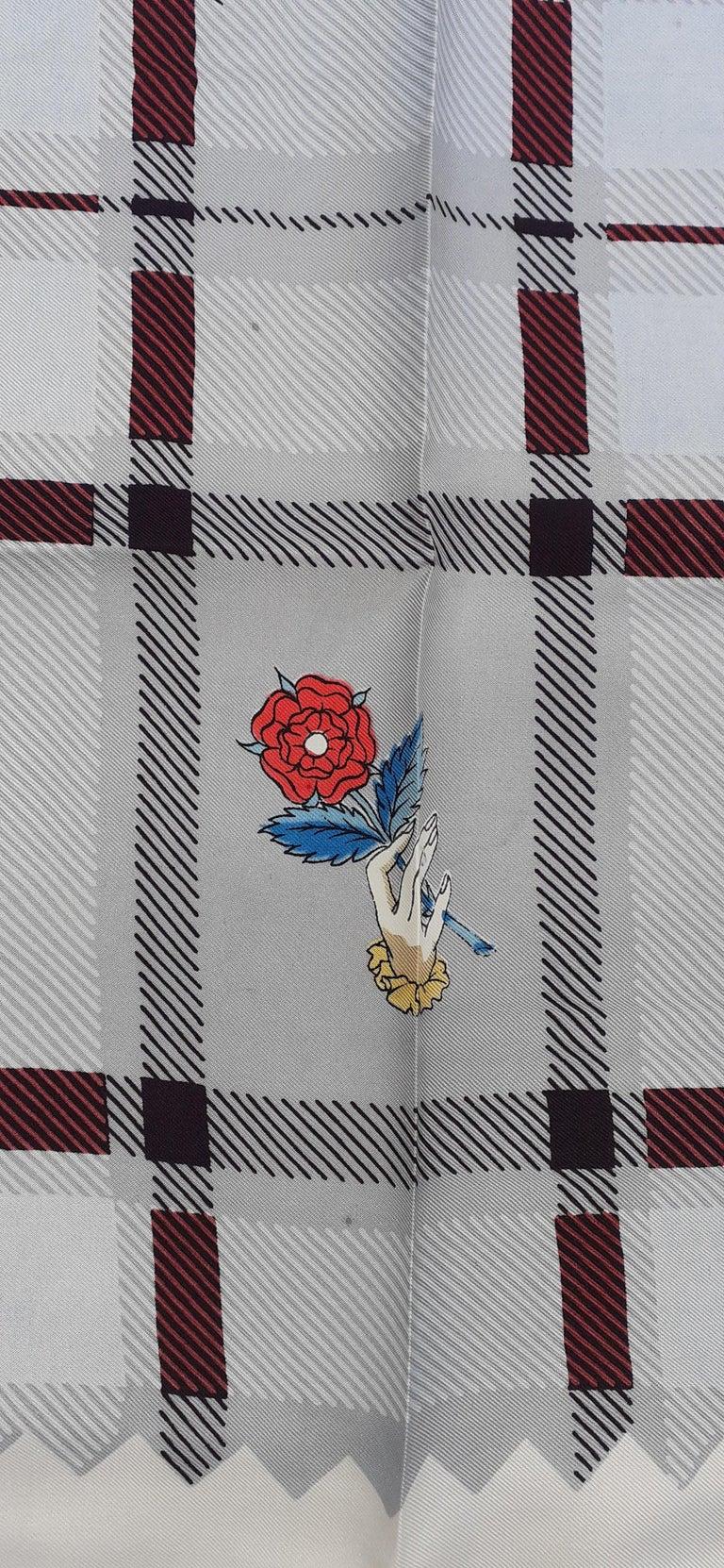 Women's or Men's Hermès Vintage Silk Scarf Bagpipe Cornemuse United Kingdom Grygkar 1951 RARE For Sale