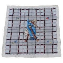 Hermès Vintage Silk Scarf Bagpipe Cornemuse United Kingdom Grygkar 1951 RARE