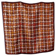 "Hermes Vintage Silk Scarf ""Bolduc Au Carré"" by Caty Latham"