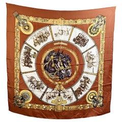 Hermes Vintage Silk Scarf Chevaux de Trait 1993 Bourthoumieux