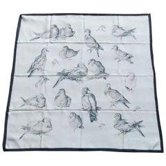 Hermès Vintage Silk Scarf Doves Tourterelles Xaviere de Poret 1st Issue 1956 1A