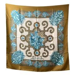 Hermes Vintage Silk Scarf Grotte de Versailles 1969 Tranchant